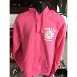 Pink Boston Fire Landmark Fleece Hoodie