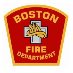 "4"" Window Decals Boston Fire Department"